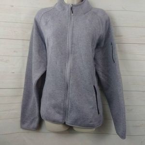 Eddie Bauer Fleece Full ZIp Jacket Lavender XL